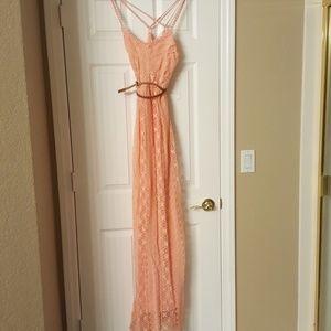 Summer spaghetti strap maxi dress